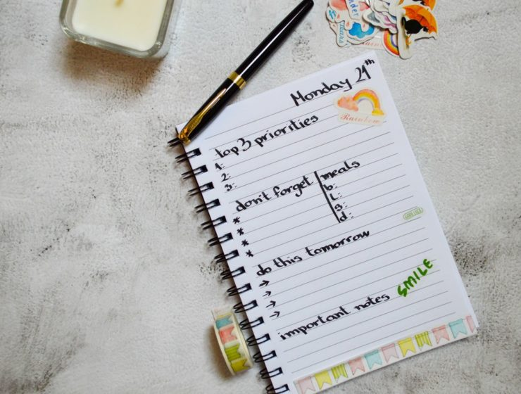 Carnețel cu idei și notițe