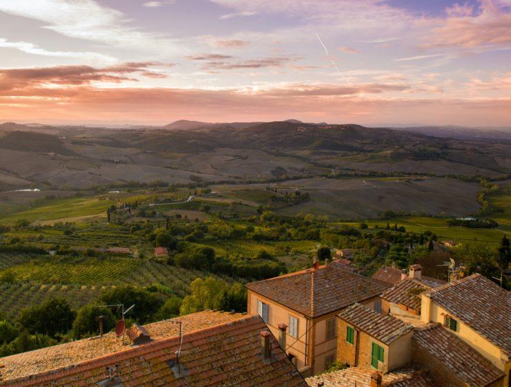 Peisaj din satul italienesc Montepulciano