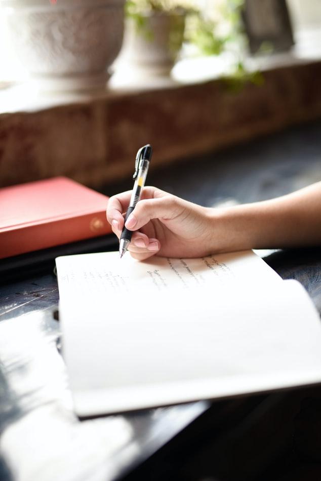Persoană care scrie în jurnal